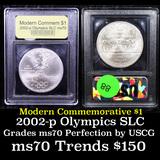 2002-p Olympic Salt Lake Modern Commem Dollar $1 Graded ms70, Perfection By USCG