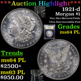 ***Auction Highlight*** 1921-d Morgan Dollar $1 Graded Choice Unc PL By USCG (fc)