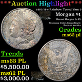 ***Auction Highlight*** 1883/18-s Rainbow Toned Vam 5 Morgan Dollar $1 Grades Select Unc PL (fc)