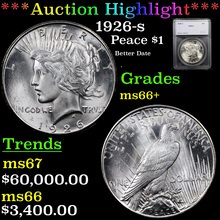 1926-s Peace Dollar $1 Graded ms66+ By SEGS (fc)