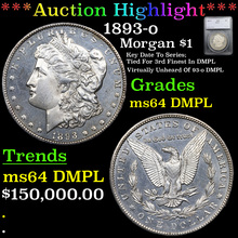 1893-o Morgan Dollar $1 Graded ms64 DMPL By SEGS