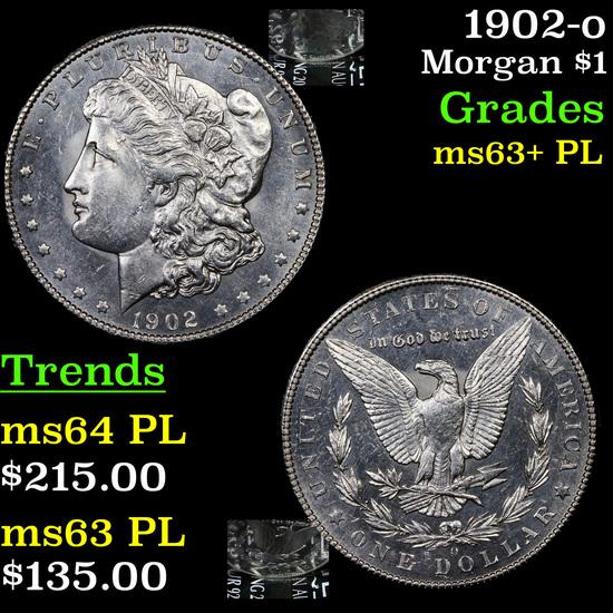 1902-o Morgan Dollar $1 Grades Select Unc+ PL
