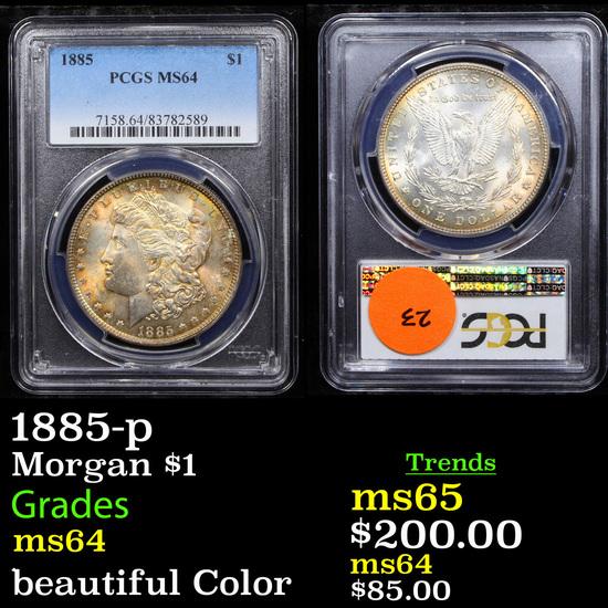 PCGS 1885-p Morgan Dollar $1 Graded ms64 By PCGS