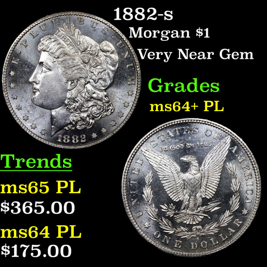 1882-s Morgan Dollar $1 Grades Choice Unc+ PL