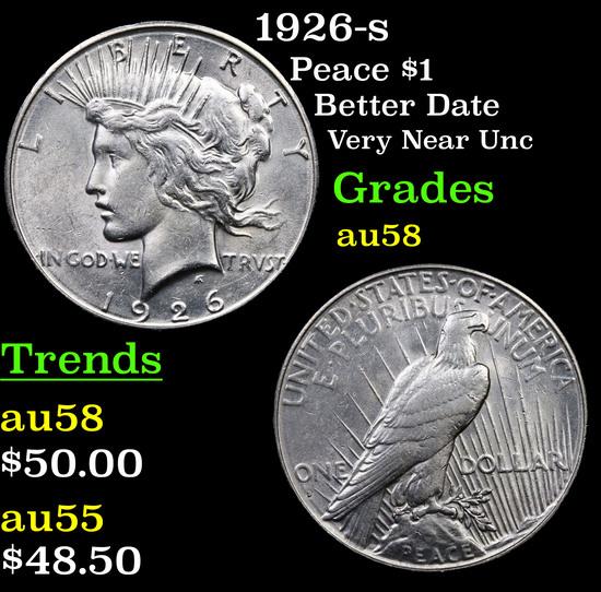 1926-s Peace Dollar $1 Grades Choice AU/BU Slider