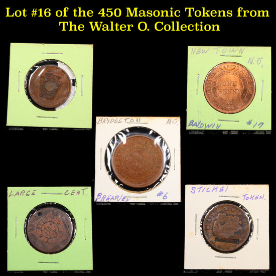 Lot #16 of the 450 Masonic Tokens from The Walter O. Collection