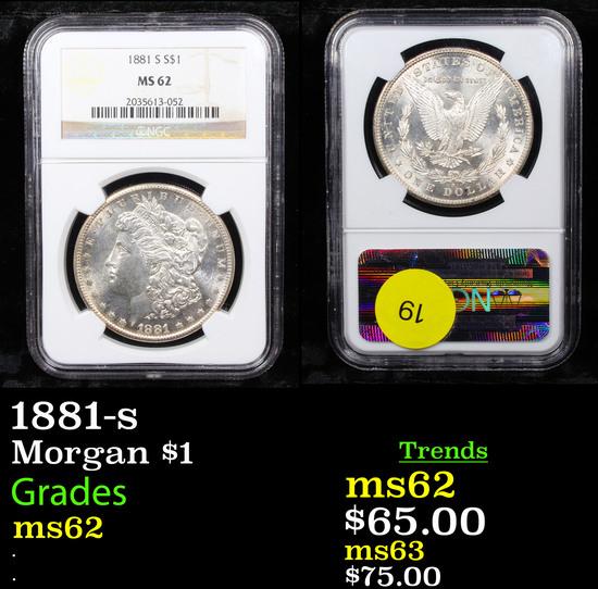 NGC 1881-s Morgan Dollar $1 Graded ms62 By NGC