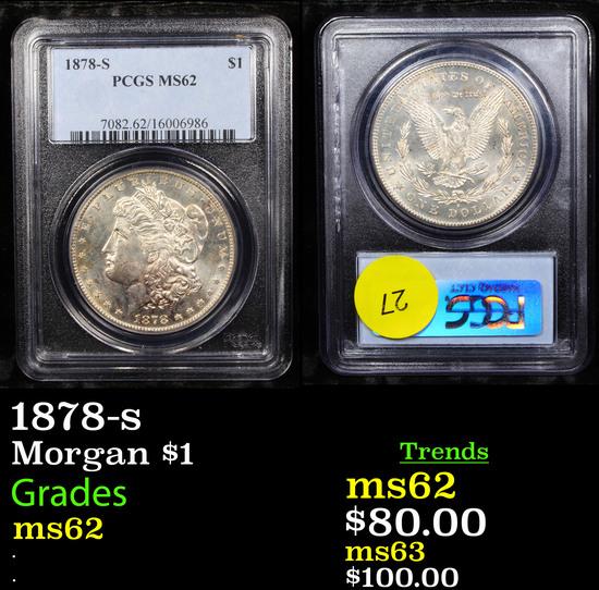 PCGS 1878-s Morgan Dollar $1 Graded ms62 By PCGS