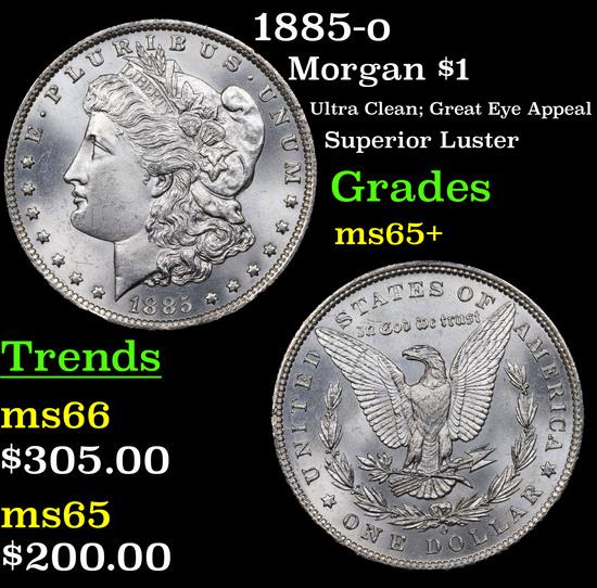 1885-o Morgan Dollar $1 Grades GEM+ Unc