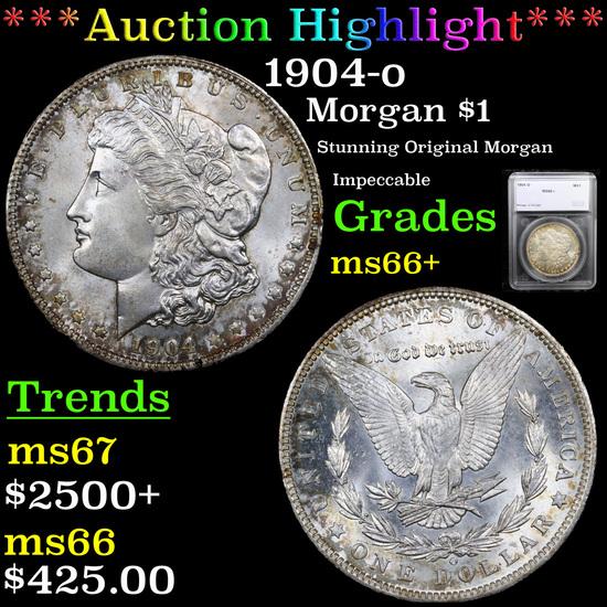 ***Auction Highlight*** 1904-o Morgan Dollar $1 Graded ms66+ By SEGS (fc)