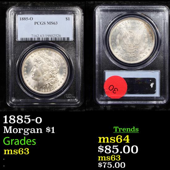 1885-o Morgan Dollar $1 Graded ms63 By PCGS