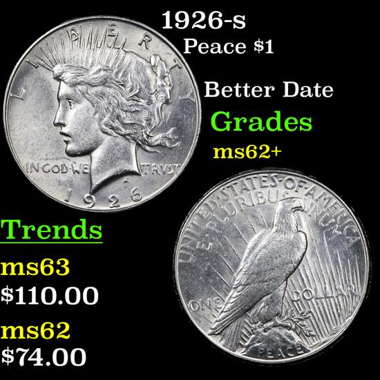 1926-s Peace Dollar $1 Grades Select Unc