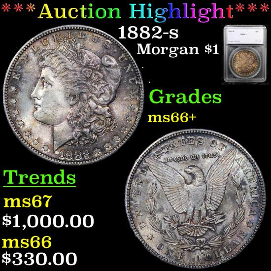 ***Auction Highlight*** 1882-s Morgan Dollar $1 Graded ms66+ By SEGS (fc)
