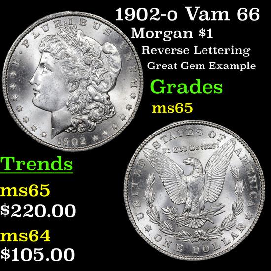 1902-o Vam 66 Morgan Dollar $1 Grades GEM Unc