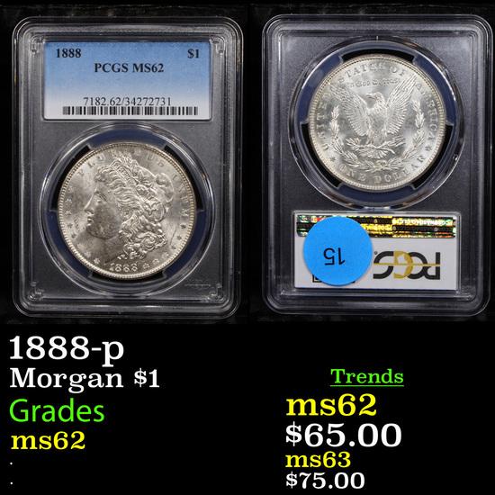 PCGS 1888-p Morgan Dollar $1 Graded ms62 By PCGS