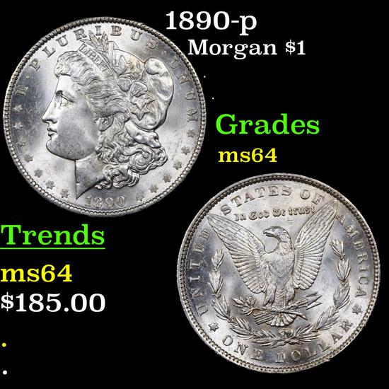 1890-p Morgan Dollar $1 Grades Choice Unc