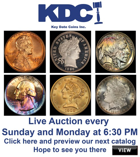 Breathtaking Spring Coin Consigns Auction 5 of 6