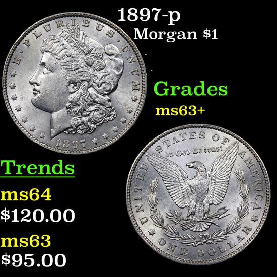 1897-p Morgan Dollar $1 Grades Select+ Unc