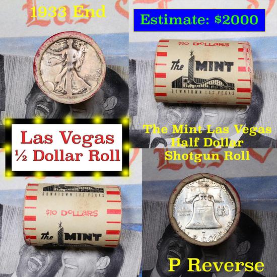 ***Auction Highlight*** Old Casino 50c Roll $10 Halves Las Vegas Casino The Mint 1933 Walker & 'P' F