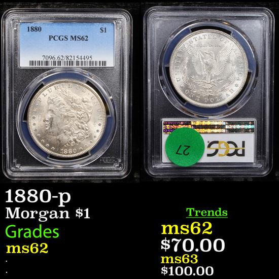 1880-p Morgan Dollar $1 Graded ms62 By PCGS