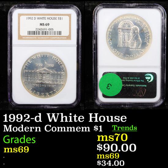 NGC 1992-d White House Modern Commem Dollar $1 Graded ms69 By NGC
