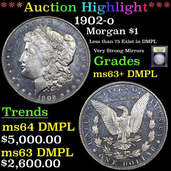 ***Auction Highlight*** 1902-o Morgan Dollar $1 Graded Select Unc+ DMPL By USCG (fc)