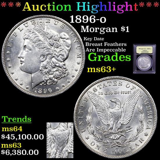 ***Auction Highlight*** 1896-o Morgan Dollar $1 Graded Select+ Unc By USCG (fc)