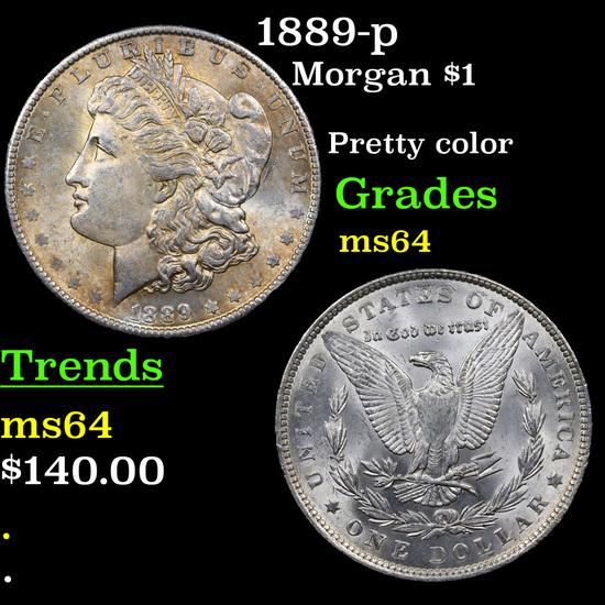 1889-p Morgan Dollar $1 Grades Choice Unc