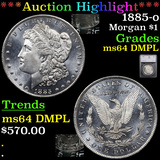 ***Auction Highlight*** 1885-o Morgan Dollar $1 Graded ms64 DMPL By SEGS (fc)