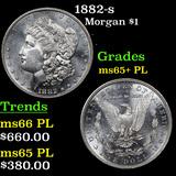 1882-s Morgan Dollar $1 Grades GEM+ PL