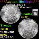 ***Auction Highlight*** 1879-s Morgan Dollar $1 Graded ms67+ By SEGS (fc)