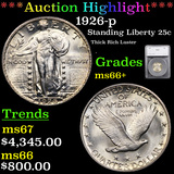 ***Auction Highlight*** 1926-p Standing Liberty Quarter 25c Graded ms66+ By SEGS (fc)