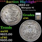 ***Auction Highlight*** 1892-cc Morgan Dollar $1 Graded xf45 By SEGS (fc)