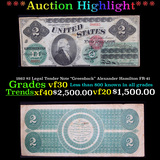 ***Auction Highlight*** 1862 $2 Legal Tender Note