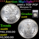 *HIGHLIGHT OF ENTIRE AUCTION* 1899-o TOP POP Morgan Dollar $1 Graded ms68 By SEGS (fc)