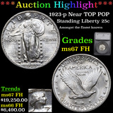 *HIGHLIGHT OF NIGHT* 1923-p TOP POP Standing Liberty Quarter 25c Graded ms67 FH By SEGS (fc)