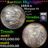 **HIGHLIGHT OF NIGHT** 1884-s Morgan Dollar $1 Graded Select Unc By USCG (fc)