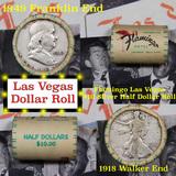 *Auction Highlight* Old Casino 50c Roll $10 Halves Las Vegas Casino Flamingo 1918 Walker & 1949 Fra