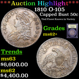 ***Auction Highlight*** 1810 O-105 Capped Bust Half Dollar 50c Graded Select Unc By USCG (fc)