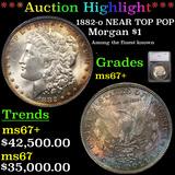 *HIGHLIGHT OF NIGHT* 1882-o NEAR TOP POP Morgan Dollar $1 Graded ms67+ BY SEGS (fc)