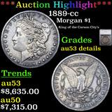 ***Auction Highlight*** 1889-cc Morgan Dollar $1 Graded au53 details By SEGS (fc)