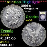 ***Auction Highlight*** 1896-s Morgan Dollar $1 Graded Select AU By USCG (fc)