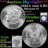 ***Auction Highlight*** 1883-s vam 9 R5 Morgan Dollar $1 Graded Select Unc By USCG (fc)