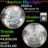 ***Auction Highlight*** 1880-s Morgan Dollar $1 Graded ms67+ By SEGS (fc)