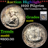 ***Auction Highlight*** 1920 Pilgrim Old Commem Half Dollar 50c Graded ms66 By SEGS (fc)