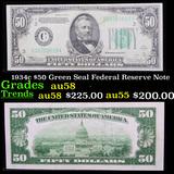 1934c $50 Green Seal Federal Reserve Note Grades Choice AU/BU Slider