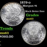 1879-o Morgan Dollar $1 Grades Select Unc