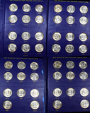 ***Auction Highlight*** Complete Franklin Half Dollar Book 1948-1963 35 coins All UNCS Stunning (fc)