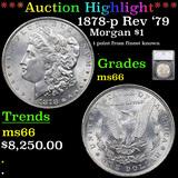***Auction Highlight*** 1878-p Rev '79 Morgan Dollar $1 Graded ms66 By SEGS (fc)