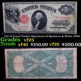 1917 $1 Legal Tender, Signatures of Speelman & White, FR39 Grades vf+